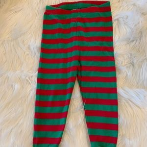 Cozy red and green pajama pants